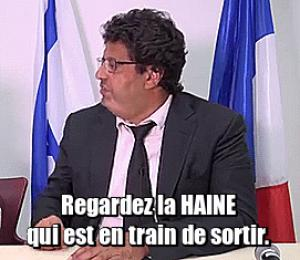Gif avec les tags : Meyer Habib,haine,les masques tombent