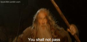 Gif avec les tags : you shall not pass