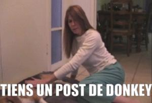 Gif avec les tags : Donkey,caca,chien,merde,post,tiens